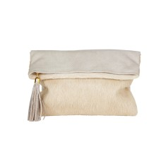 Rochas dress clutch piton natural