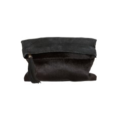 Rochas dress clutch black piton