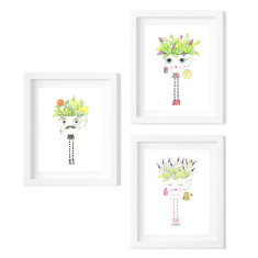 Trio of Teacup People - Limited Edition Fine Art Prints