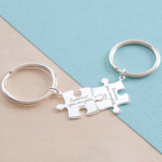 Personalised Puzzle Key Ring