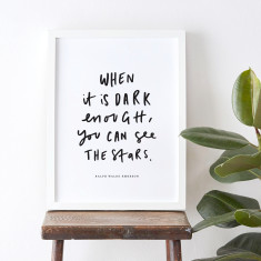 See the stars quote print