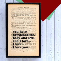 Mr Darcy romantic quote print