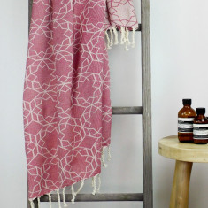 Amalfi Turkish Towel in Ruby