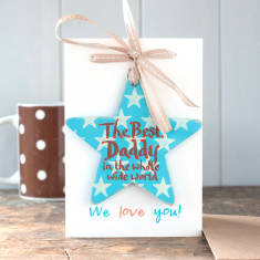 The Best Daddy in the whole wide world personalised star gift card