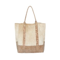 Lupe tote in gold leopardo