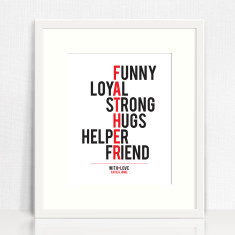 Father typographic print