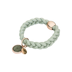 Leather bracelet in mint green