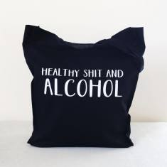 Veggies & alcohol tote bag