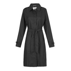 Women's packable shower-proof raincoat in black