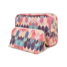 Colourful Stained Glass Make up & Wash Bag Travel Set