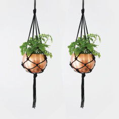 Macrame plant hangers set of 2 (various colours)