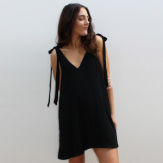 Emma black floaty dress
