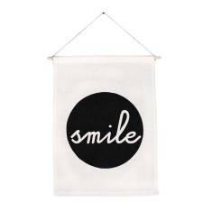 Smile handmade wall banner