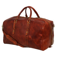 Marco Polo brown leather travel bag