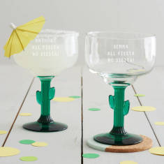 Personalised All Fiesta Cactus Margarita Glass