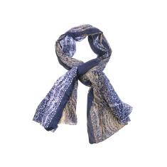 My Softest Cotton Scarf: Blue Mustard Patterning