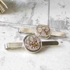 Vintage watch movement tie bar