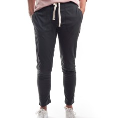 Relaxed Jersey Cigarette Pant in Charcoal