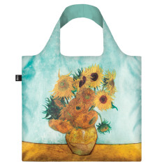LOQI reusable bag in museum collection in sunflowers