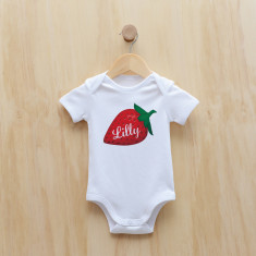 Personalised strawberry bodysuit/onesie