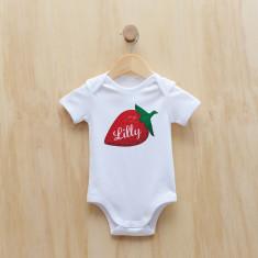 Personalised strawberry bodysuit/onesie