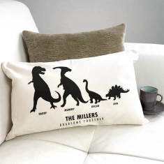 Personalised Roarsome Together Dino Family Cushion