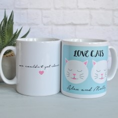 Personalised Love Cats Mug