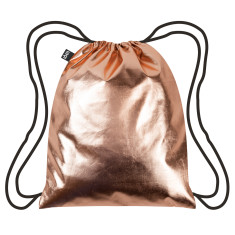 LOQI metallic collection backpack in rose gold