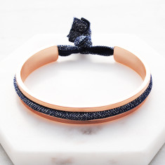 ja t'aime hair tie bangle in rose gold with snag-free ties
