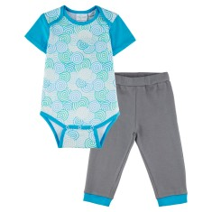 Whirlpool short sleeve onesie with grey pants
