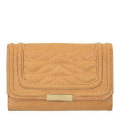 Subversive leather wallet in tan