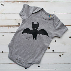 First Halloween Bat Baby-grow