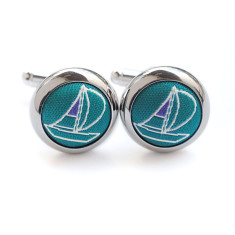 Teal Sailor Cufflinks