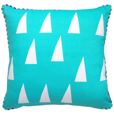 Triangles cushion cover in mint