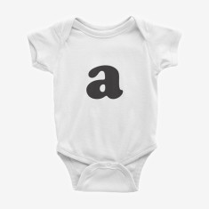 Personalised Monogram printed baby onesie