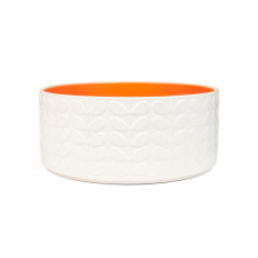 Orla Kiely raised stem salad bowl orange