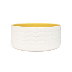 Orla Kiely raised stem salad bowl yellow