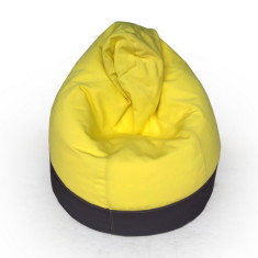 GlammCocoon two-toned bean bag cover in charcoal and yellow