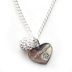 Granddaughter heart necklace with diamonté pendant