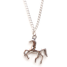 Chain necklace with silver horse