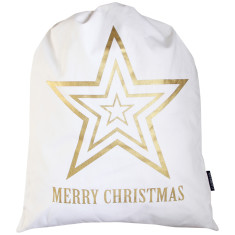 Gold star santa sack