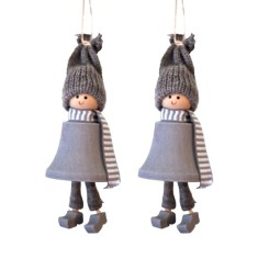Santa Fride hanging decorations (2 pack)
