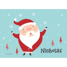 Santa personalised placemat