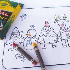 Santa's gang colour me placemat (limited edition)