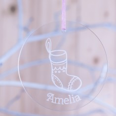 Personalised Acrylic Christmas Bauble