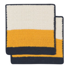Sasha crochet dishcloth in goldenrod (set of 2)