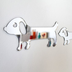 Sausage dog family of three mirrors
