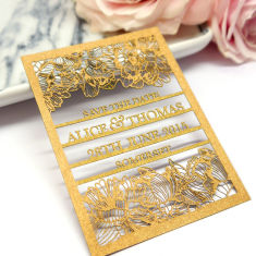 Personalised laser cut save the date cards (set of 10)