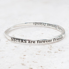 Sisters are forever friends bracelet