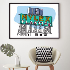 Nylex sign art print (various sizes)